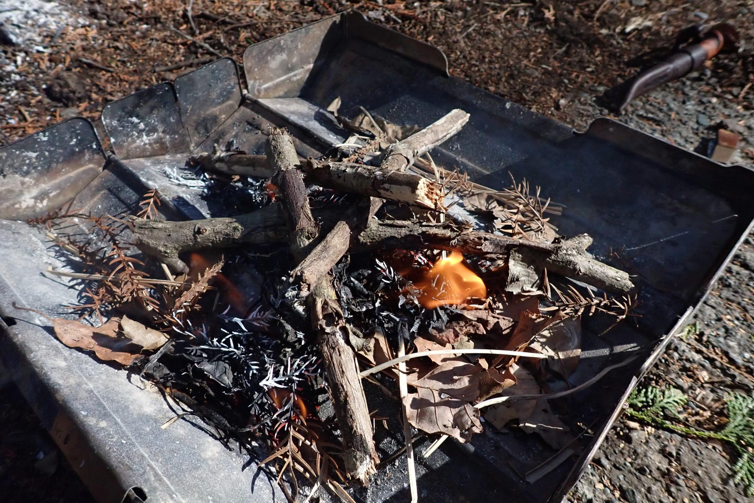 【焚火のすすめ】その場にあるもので火を起こす